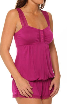 Essential Bliss Rayon And Lace Romper
