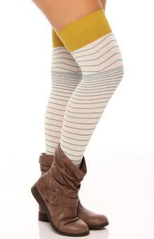 Chevron Stripe Over The Knee Sock