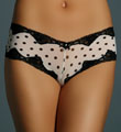 honeydew Polka Dot Mesh Boyshort Panties 355D