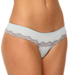 honeydew Lace-Up Mesh Thong