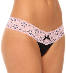 Sweetheart Rayon And Lace Thong