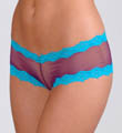 Honeydew Low Rise Fishnet Boyshort Panty with Lace Trim 931