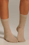 Flat Knit Cashmere Blend Sock