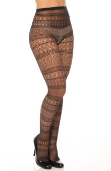 Striped Multi Net Tights