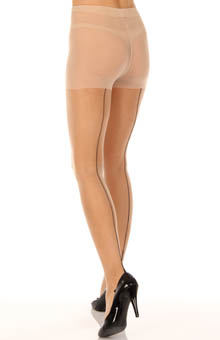 Backseam Sheer Detailed Sole Tights