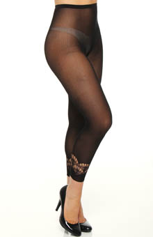 Crochet Border Footless Tights