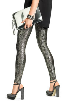 Hue Foil Python Denim Leggings 14281