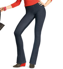 Hue Curvy Fit Jeans Boot Cut Leggings 14559