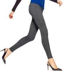 Hue Ponte Herringbone w/ Leatherette Piping Leggings 14602