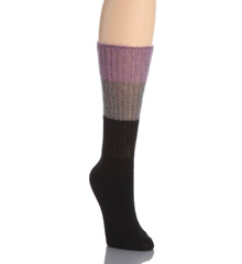 Hue Solid/Colorblock Mohair Slouch Sock 14670