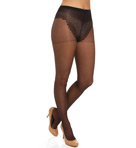 French Lace Control Top Pantyhose Image