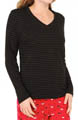 Lurex Stripe Long Sleeve V-Neck Image