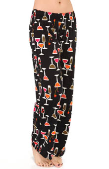 Hue Cocktail Collage Long PJ Pant PJ31113