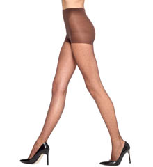 Hue Tulle Dot Sheer Tights with Control U10734N