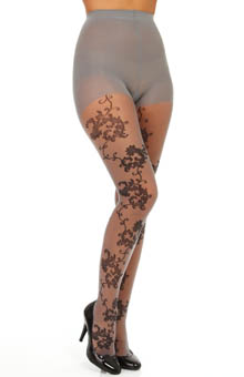 Hue Vintage Lace Tights w/ Control Top U13794