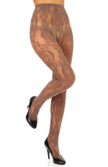 Hue Brocade Net Tights U13799