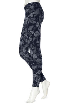 Hue Tonal Floral Jeanz Leggings U13815