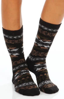 Hue Tribal Pattern Boot Sock U13919