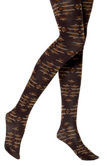 Hue Tribal Pattern Tights w/ Control Top U13965