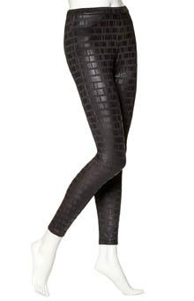 Hue Geo Print Satin Jeans Leggings U14003
