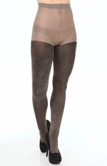 Hue Crocodile Luster Tights w/ Control Top U14084