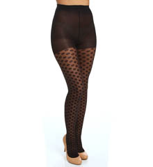 Hue Sheer Dots Tights With Control Top U14206