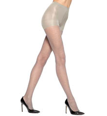 Hue Pointelle Dot Sheer Tights with Control U14495