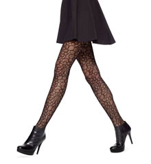Hue Open Flower Net Tights U14835