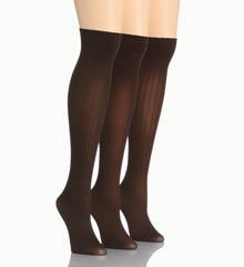 Hue Cable/Rib/Opaque Knee Hi 3 Pack U14939