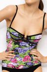 Huit Love The Keys Underwire Tankini Swim Top LOV73