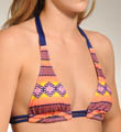 Hurley Mayan Stripe Halter Swim Top H1133