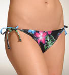 Hurley Moon Bloom String Tie Side Swim Bottom H1353