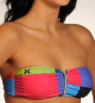 Kings Road Zipper Bandeau Top