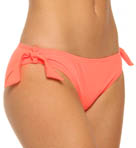 One and Only Solids Hipster with Ties Swim Bottom