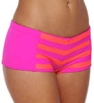 Surfside Stripe Boyshort Swim Bottom