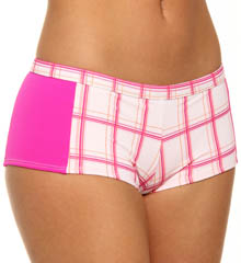 One and Only Plaid Boyshort Swim Bottom