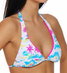 Flamo Reversible Halter Swim Top