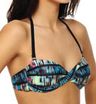 Hurley Record Scratch Twist Bandeau Swim Top HU24103