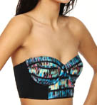 Record Scratch Underwire Bustier Swim Top