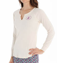 Jane & Bleecker Rib Split Neck Henley 353860