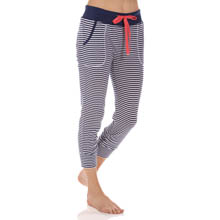 Jane & Bleecker Striped 1X1 Rib Capri 359752