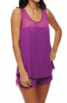 Jessica Simpson Intimates Cactus Flower Tank And Short Sleep Set JS11534
