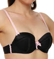 Indulge Woven Satin with Lace Trim Push-up Bra Image