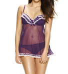 Jezebel Ruffles Galore Underwire Camidoll and Hipster Set 82154