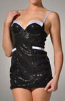 Jezebel Shimmer Tuxedo Sequence Chemise 89370