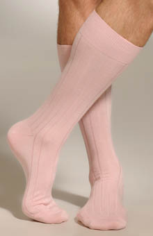 Mid Calf Pima Cotton Rib Socks