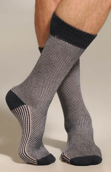 Two Color Birdseye Mid Calf Sock