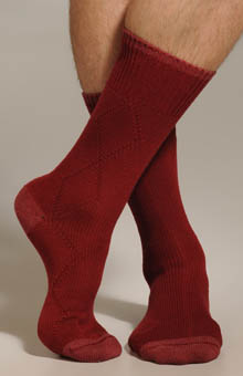 Drop Stitch Diamond Sock
