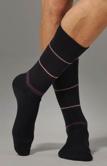 Spaced Stripe Sock