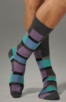 Modern Block Stripe Sock
